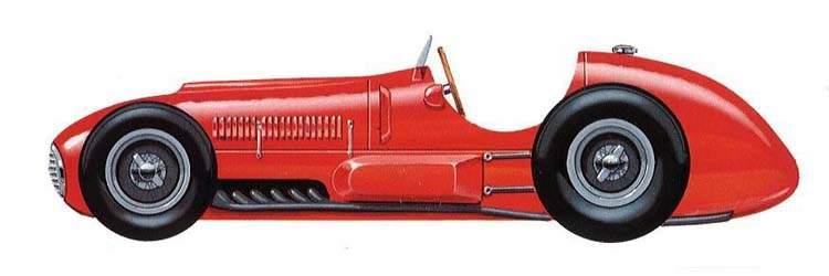 Ferrari da década de 1950, modelo 125, apresentando a evolução das regras e regulamentos da Formula 1 foto by mycarheaven.com