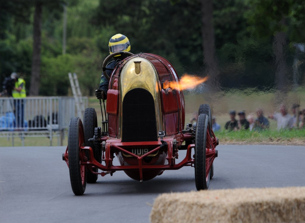 The Beast of Turin captivated the crowds at the Chateau Impney Hill Climb