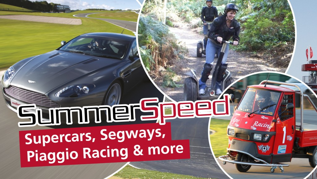Summer Speed supercars, segways, piaggio racing and more